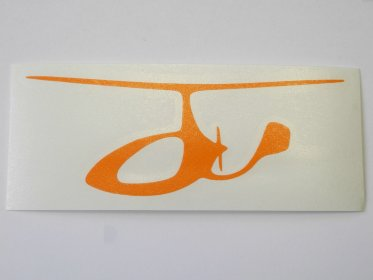 Sticker gyroplane 154x63mm, orange