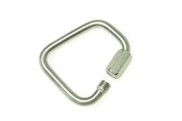 Rescue chute karabiner, stainless steel mailon 8kN